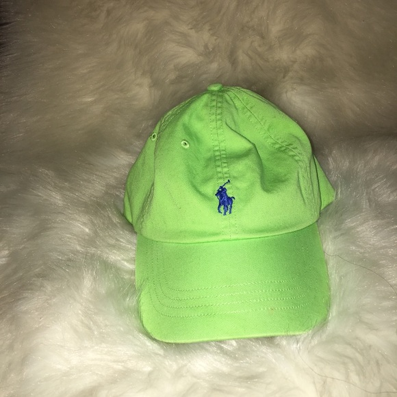 c78713d376 Lime green polo hat. M 5a83f27f31a37615bce78c64